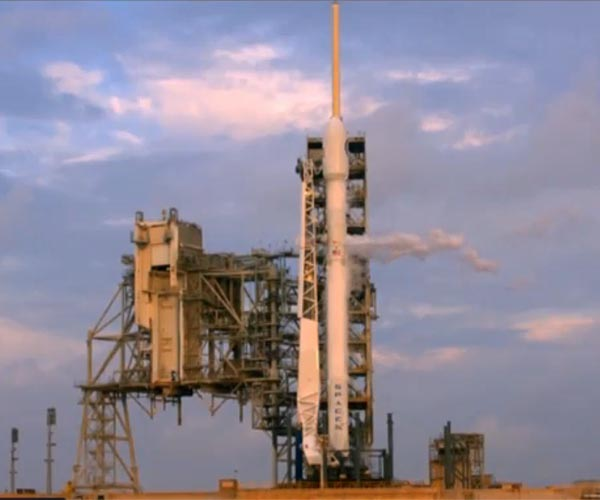 SpaceX launches US spy satellite Falcon 9 first stage returns SpaceX Boca Chica