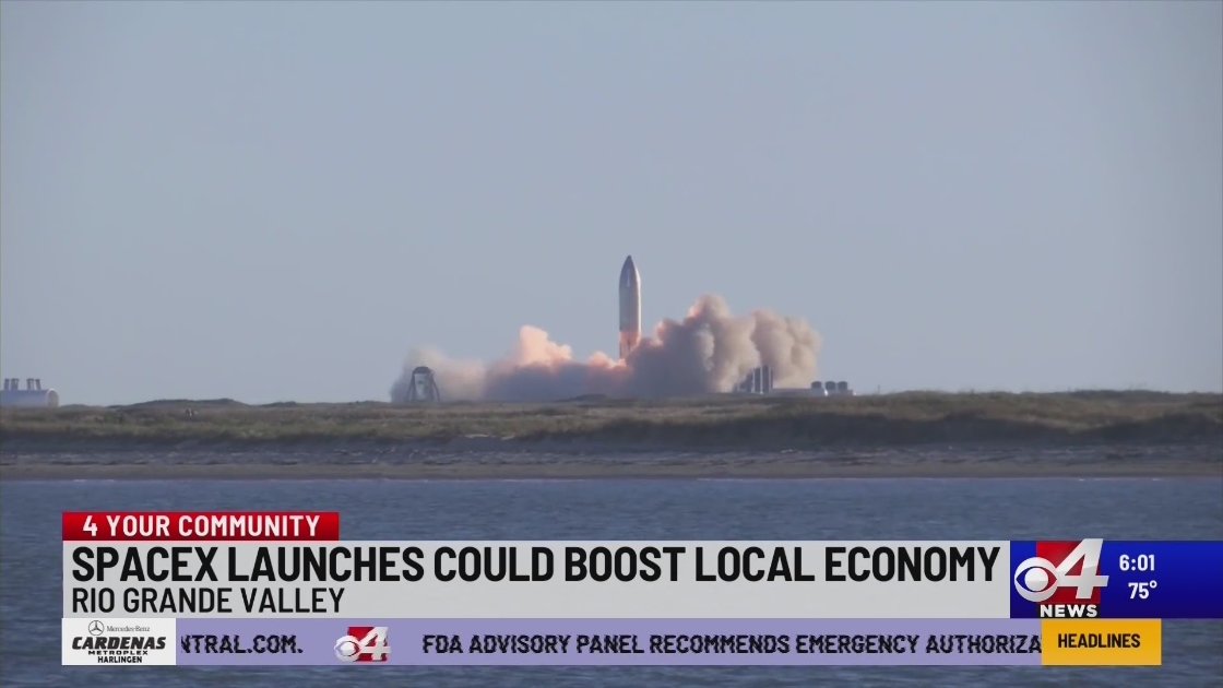 SpaceX launches could boost local economy SpaceX Boca Chica